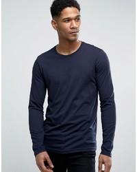 dunkelblaues Langarmshirt von Benetton