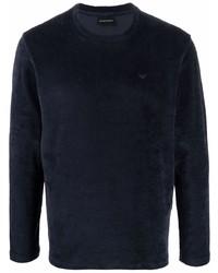dunkelblaues Langarmshirt von Emporio Armani