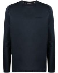 dunkelblaues Langarmshirt von Karl Lagerfeld