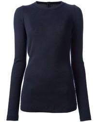 dunkelblaues Langarmshirt von Maison Margiela