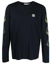 dunkelblaues Langarmshirt von Moncler