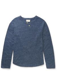 dunkelblaues Langarmshirt von Oliver Spencer