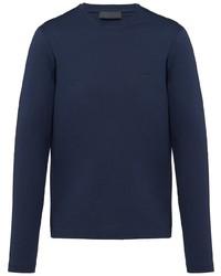 dunkelblaues Langarmshirt von Prada