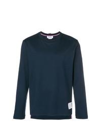 dunkelblaues Langarmshirt von Thom Browne