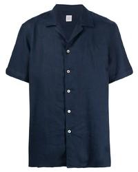 dunkelblaues Leinen Kurzarmhemd von Eleventy