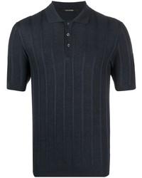 dunkelblaues Leinen Polohemd von Tagliatore