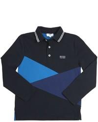 dunkelblaues Polohemd