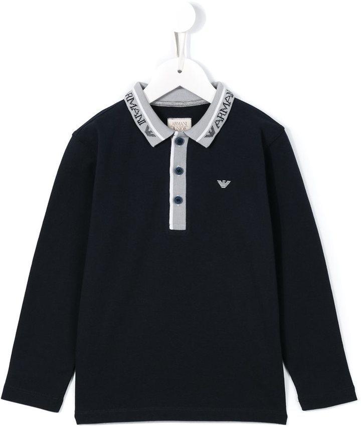 dunkelblaues Polohemd von Armani Junior