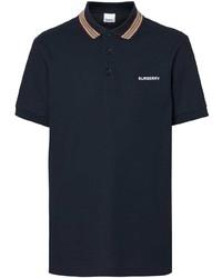 dunkelblaues Polohemd von Burberry