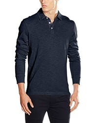 dunkelblaues Polohemd von Crew Clothing