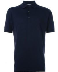 dunkelblaues Polohemd von John Smedley
