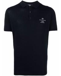 dunkelblaues Polohemd von Karl Lagerfeld