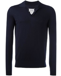 dunkelblaues Polohemd von Maison Margiela