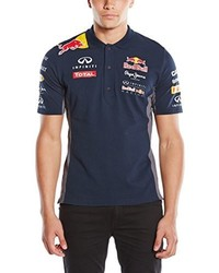 dunkelblaues Polohemd von Pepe Red Bull Racing Collection