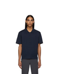 dunkelblaues Polohemd von Thom Browne