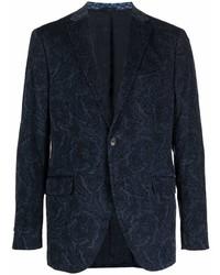 dunkelblaues Sakko mit Paisley-Muster von Etro