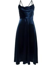 Dunkelblaues Samt Cocktailkleid von Valentino