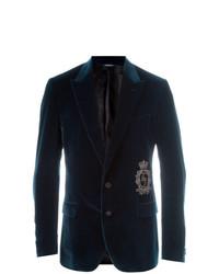 dunkelblaues Samtsakko von Dolce & Gabbana