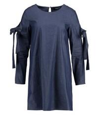 Dunkelblaues Schwingendes Kleid von Fashion Union