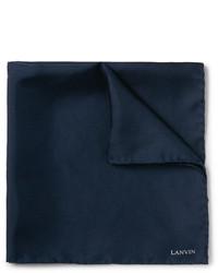 dunkelblaues Seide Einstecktuch von Lanvin