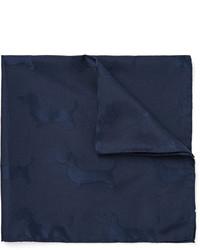 dunkelblaues Seide Einstecktuch von Thom Browne