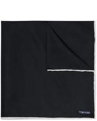 dunkelblaues Seide Einstecktuch von Tom Ford
