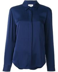 dunkelblaues Seidehemd von DKNY