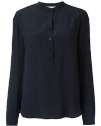 dunkelblaues Seidehemd von Stella McCartney