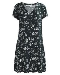 dunkelblaues Shirtkleid mit Blumenmuster von Jdy