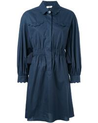 dunkelblaues Shirtkleid von Fendi