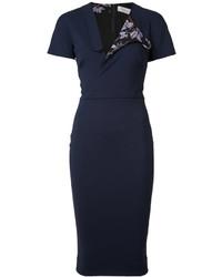 dunkelblaues Shirtkleid von Victoria Beckham