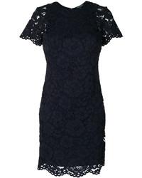 dunkelblaues Spitzekleid von Ralph Lauren