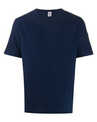 dunkelblaues Strick T-Shirt mit einem Rundhalsausschnitt von Eleventy