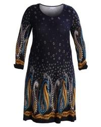 dunkelblaues Sweatkleid mit Paisley-Muster von Anna Field