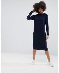 dunkelblaues Sweatkleid von Asos
