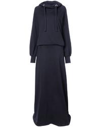 dunkelblaues Sweatkleid von Maison Margiela
