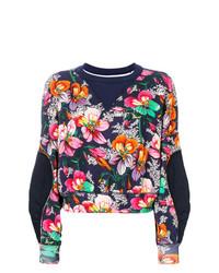dunkelblaues Sweatshirt mit Blumenmuster von Isabel Marant