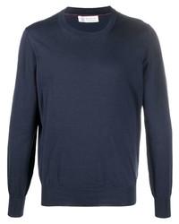 dunkelblaues Sweatshirt von Brunello Cucinelli
