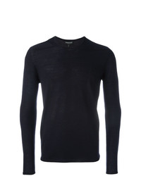 dunkelblaues Sweatshirt von Emporio Armani