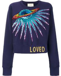 dunkelblaues Sweatshirt von Gucci