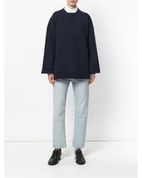 dunkelblaues Sweatshirt von Maison Margiela