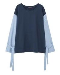 dunkelblaues Sweatshirt von Mango