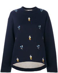 dunkelblaues Sweatshirt von Marni