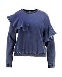 dunkelblaues Sweatshirt von Second Script Curve