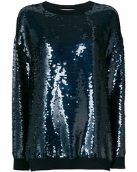 dunkelblaues Sweatshirt von Stella McCartney