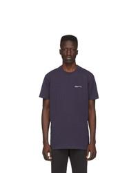 dunkelblaues T-Shirt mit einem Rundhalsausschnitt von A.P.C.