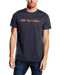 dunkelblaues T-Shirt mit einem Rundhalsausschnitt von Animal