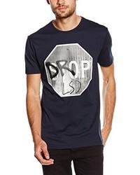 dunkelblaues T-Shirt mit einem Rundhalsausschnitt von Antony Morato