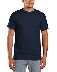 dunkelblaues T-Shirt mit einem Rundhalsausschnitt von Anvil