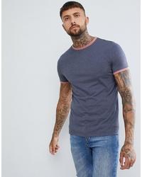 dunkelblaues T-Shirt mit einem Rundhalsausschnitt von ASOS DESIGN